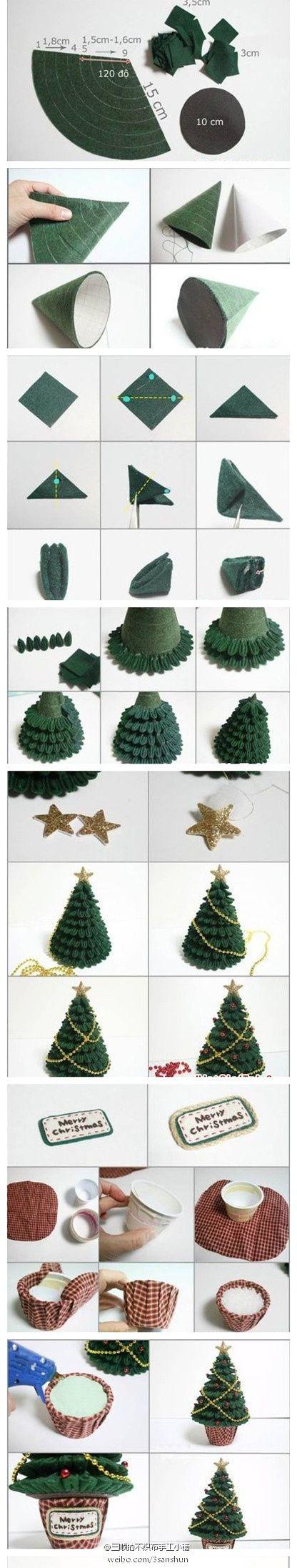 不织布圣诞...来自念那些曾经的图片分享-堆糖