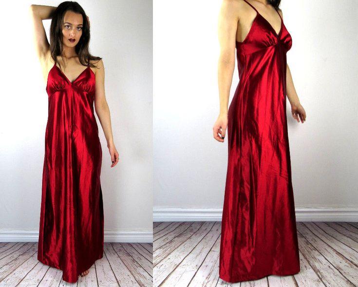 Christmas Lingerie / Christmas Nightgown / Silk Nightgown / Silk Chemise / Satin Nightie / Long Chemise / Sexy Nightie / Luxury Nightgown