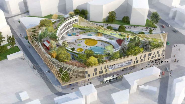 Join buildyful.com - the global place for architecture students.~~ARCHI5 WINS NEW PORT CHEMIN VERT SCHOOL COMPETITION