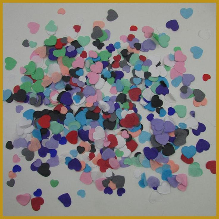 Colorful Heart-shaped Scraps, Shredded tissue Paper Confetti 500g per lot Wedding Party Decoration Free Shipping