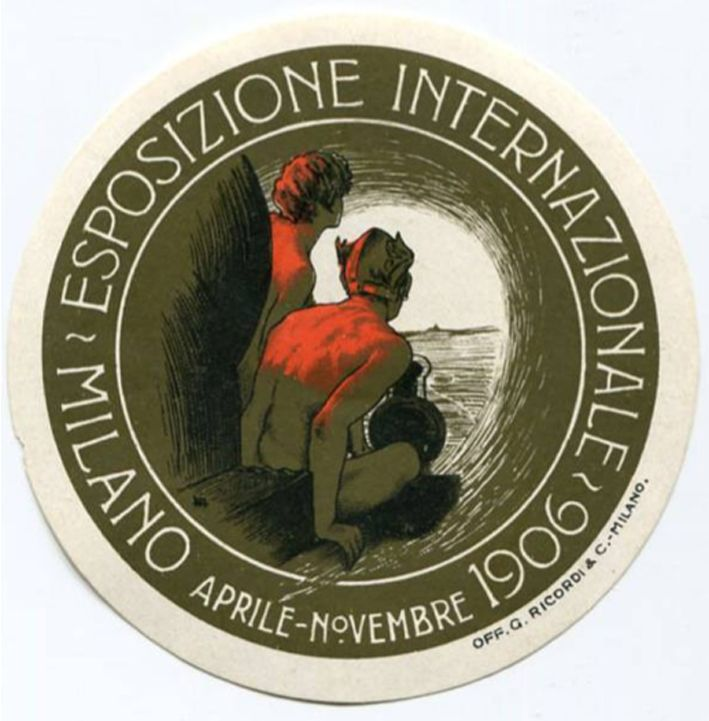Internazionale Esposizione Milano, by Leopoldo Metlicovitz, 1906, Milano, Officine Giulio Ricordi & C.
