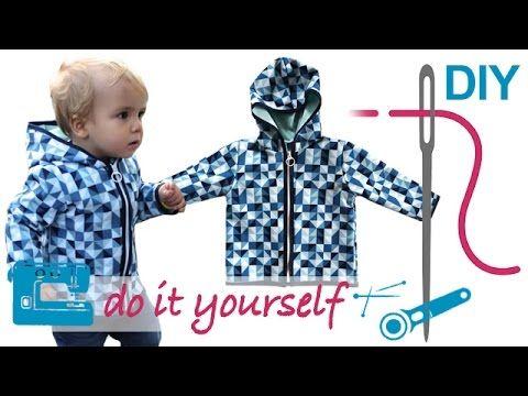 DIY Softshell Jacke mit RV nähen für Anfänger – Grundkurs teilbaren RV einnähen - YouTube