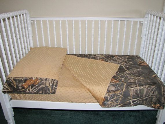 3 Piece Toddler Bedding, fabrics are your choice,  Max 4 Realtree Lolas Lovies handmade baby bedding on Etsy, $149.00
