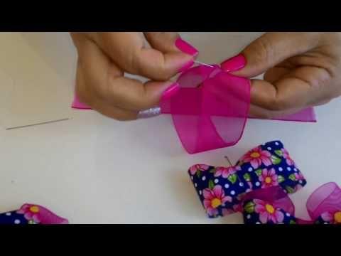Laços para festa juninas - YouTube