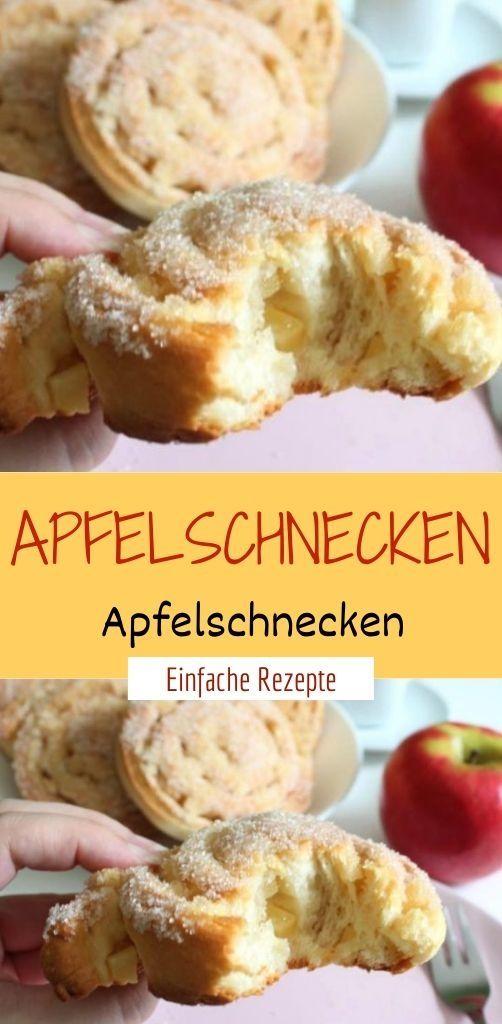 Apfelschnecken  – Einfache Rezepte ❤️