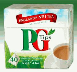 PG Tips has been the best known and most popular brand of tea in the UK for over 75 years. Stronger than most Indian and African teas, PG Tips has a similar taste to our English Breakfast Tea.