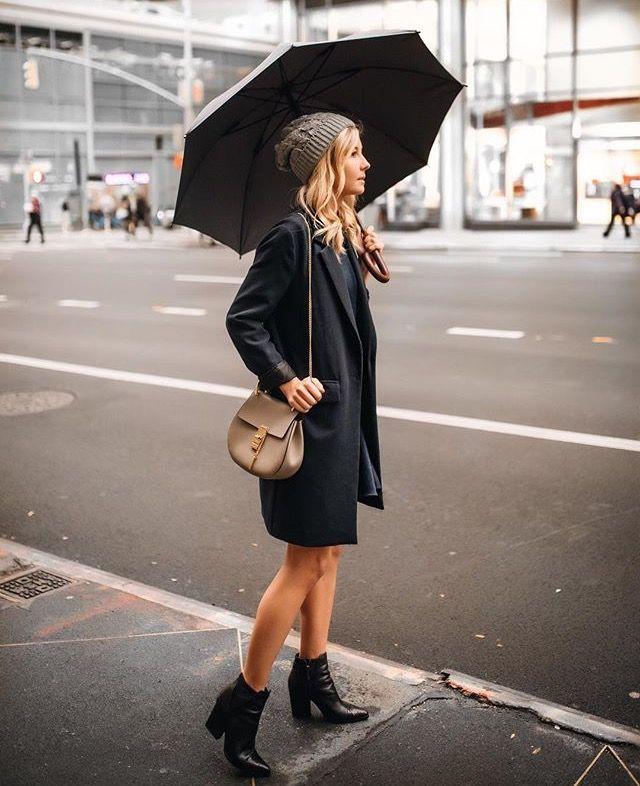 NYC rainy day style
