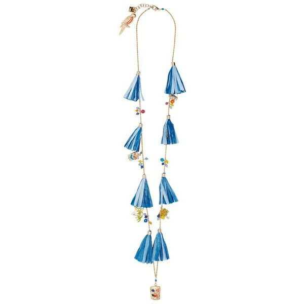 Rosantica Women's Aloha Necklace (3.973.830 IDR) ❤ liked on Polyvore featuring jewelry, necklaces, blue, adjustable necklace, long necklaces, blue necklace, rosantica jewelry and hawaiian jewelry