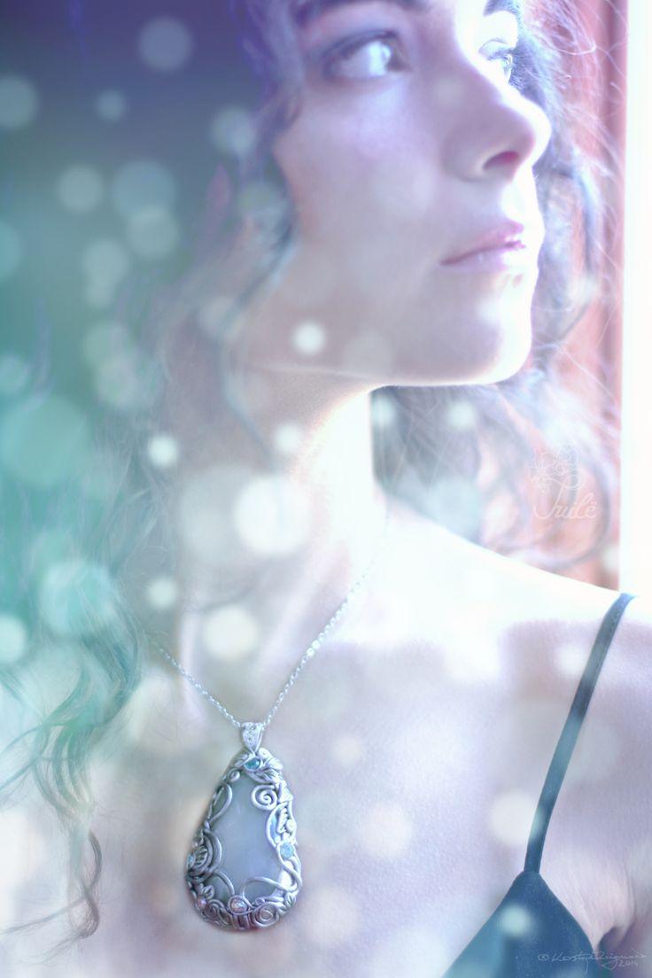 Mermaid look My etsy shop: https://www.etsy.com/shop/Tuiledesign  #polymerclay #jewelry #pendant#enchanted #mermaid #bokeh