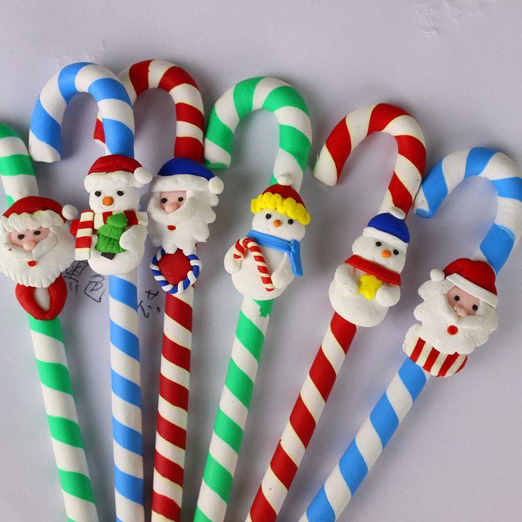 Cheap 6 UNIDS bolígrafo de Dibujos Animados de Navidad de Santa Claus Muñeco de nieve de Navidad de cerámica suave Muletas estilo 0.7mm bolígrafo material escolar oficina, Compro Calidad Bolígrafos directamente de los surtidores de China: 6 UNIDS bolígrafo de Dibujos Animados de Navidad de Santa Claus Muñeco de nieve de Navidad de cerámica suave Muletas estilo 0.7mm bolígrafo material escolar oficina