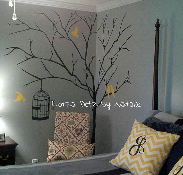 Hand painted wall mural for A mural is painted on a