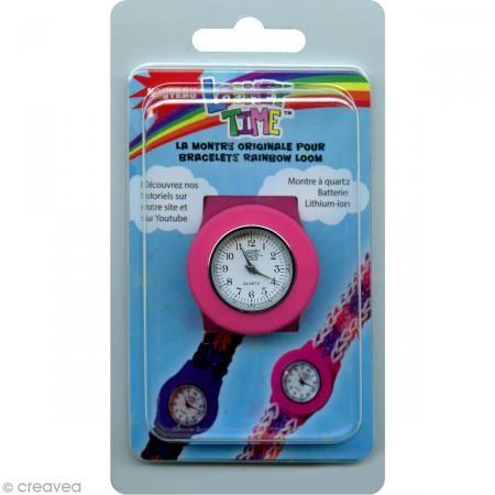 Montre Loomey Time pour bracelets élastiques - Rose - Photo n°1