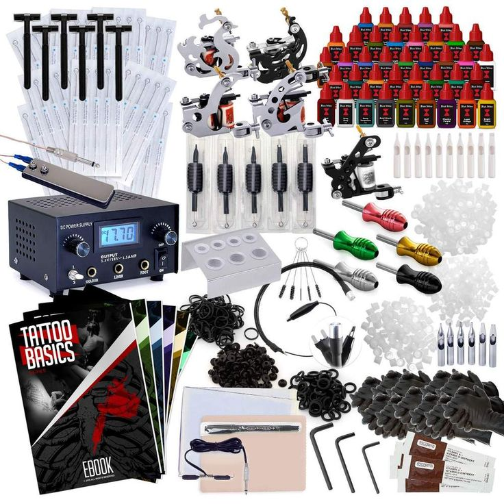 Tattoo Machine Kit - 5 Gun Set with 40 Inks