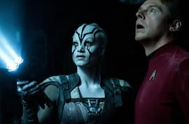 The new face in 'Star Trek Beyond' was named after Jennifer Lawrence     - CNET  Enlarge Image  Sofia Boutella is Jaylah in Star Trek Beyond pictured here with co-star and co-writer Simon Pegg.                                              Kimberley French                                          Jennifer Lawrence is already the star of the Hunger Games and X-Men movies and now shes a part of Star Trek too  a major character in Star Trek Beyond is named after her.  The character is Jaylah a…