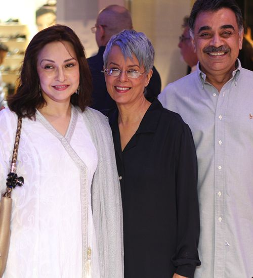Desi Blooms - Zeba Bakhtiar, Maheen Khan and Khalid Rauf at the launch of Maheen Khan's latest pret collections, Shaam & Rangleela, at Gulabo. View the gallery on #BeautifulYou #Pakistan