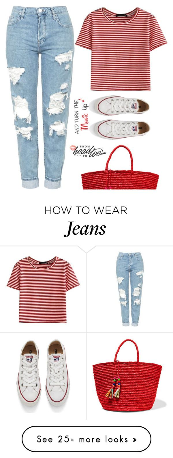 """Turn the music up"" by jan31 on Polyvore featuring Topshop, WithChic, Converse and Sensi Studio"