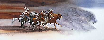 Wolves of the Crow - Bev Doolittle - World-Wide-Art.com - $3195.00 #Doolittle #NativeAmerican