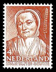 schrijfster Aagje Deken (1714-1804) nvph-394