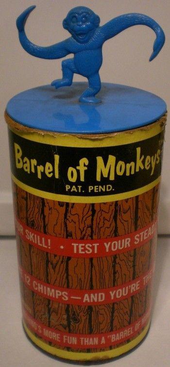 LAKESIDE: 1965 Barrel of Monkeys #Vintage #Toys #Games