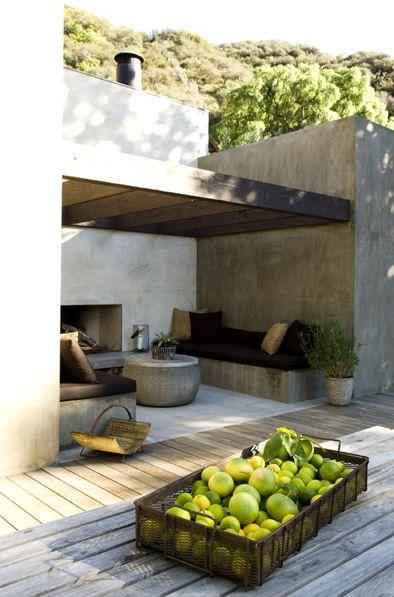 muebles fijos en terraza