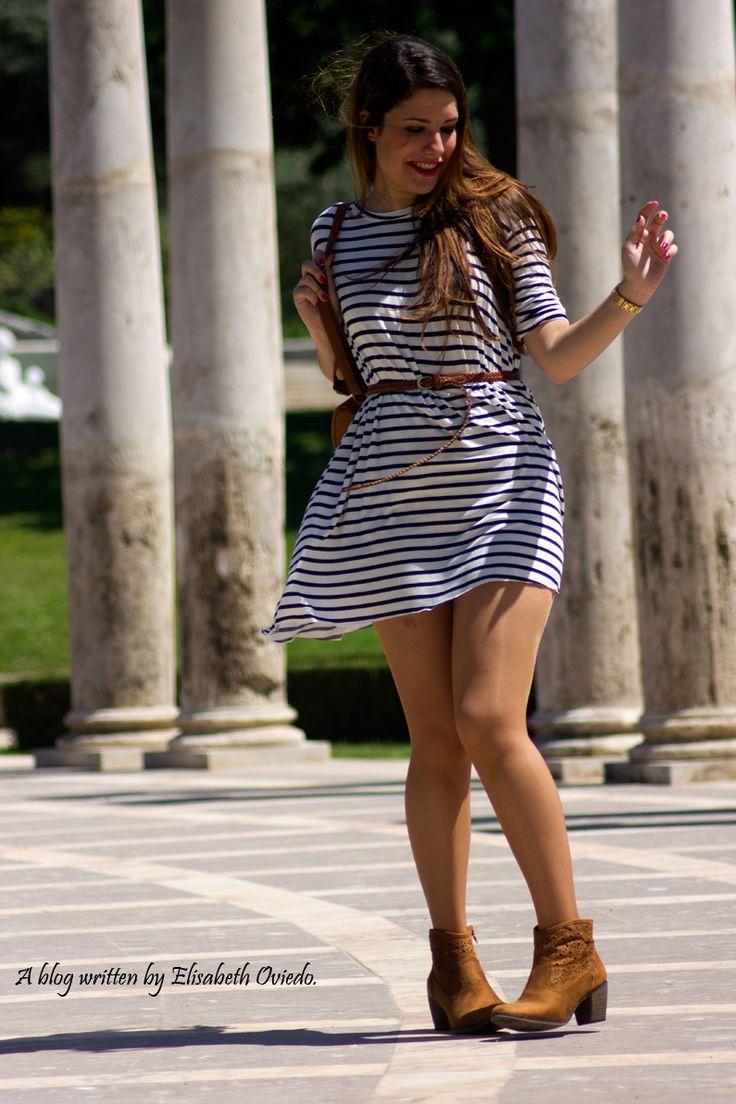 vestidos con botines sin tacon