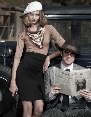 Fabulous Bonnie and Clyde-inspired editorial from Harper's Bazaar.