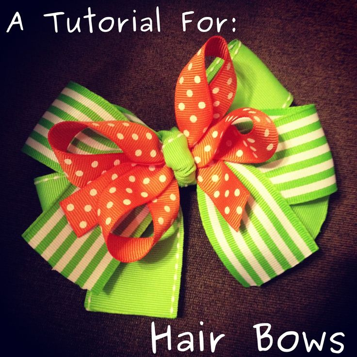 DIY Hair Bow Tutorial.. for real.. this is so easy to make!! i just made my first two bows using this tutorial!! so simple and yet so cute :)