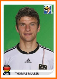 Thomas Muller of Germany. 2010 World Cup Finals card.