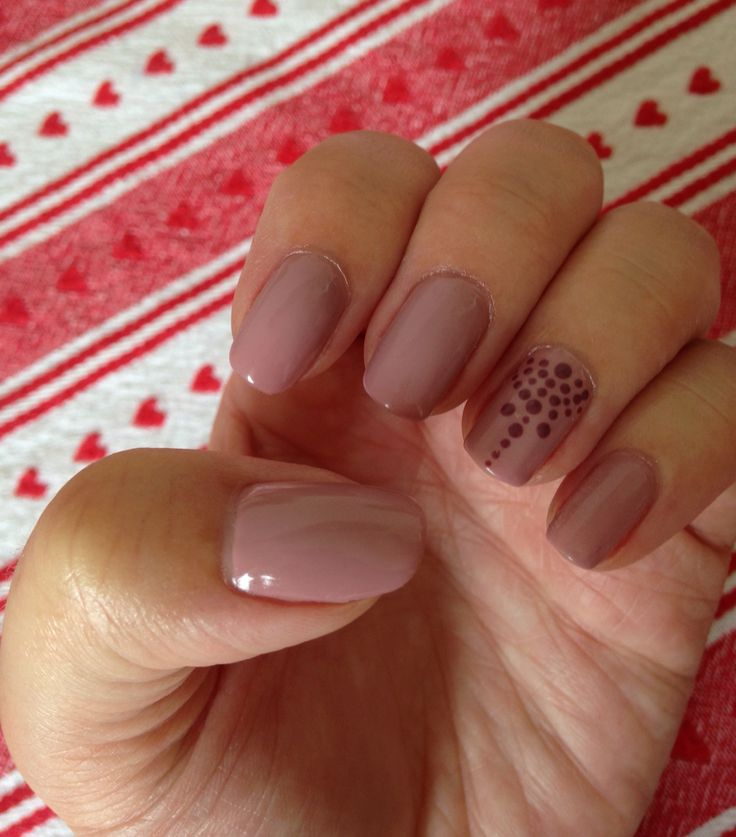 Bluesky gel polish, A44 musk pink with stamping in Mad About Mauve