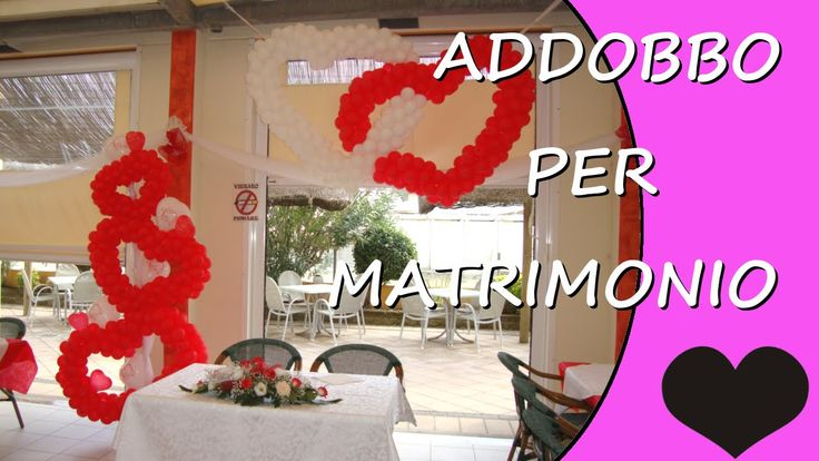 Video tutorial on how to make some custom hearts with balloons. Ideals for decorating a special event like a wedding reception #wedding #love #hearts
