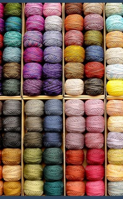 Such wonderful thread...with gorgeous colours...for special handmade projects...made by you! Valdani perle 8