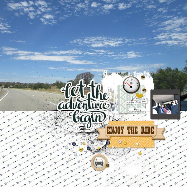 road trip scrapbook page by Justine with The Lilypad products  #2photos