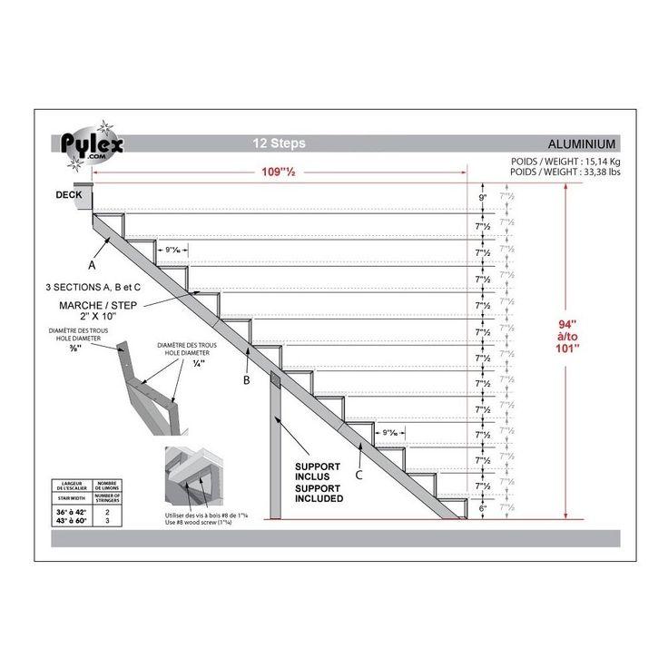 Best Pylex 12 Step Black Aluminum Stair Riser Lowe S Canada 400 x 300