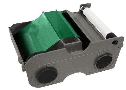 Картридж с лентой и чистящим валиком зеленая лента 45104