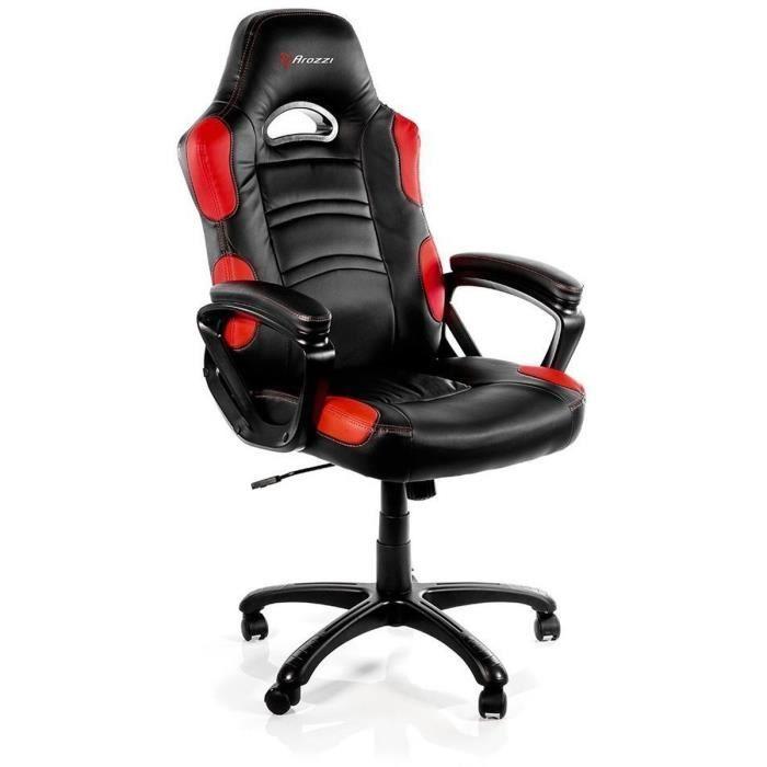 Siege Gaming Arozzi Enzo Noir Et Rouge Fauteuil Bureau Chaise De Bureau Confortable Et Fauteuil
