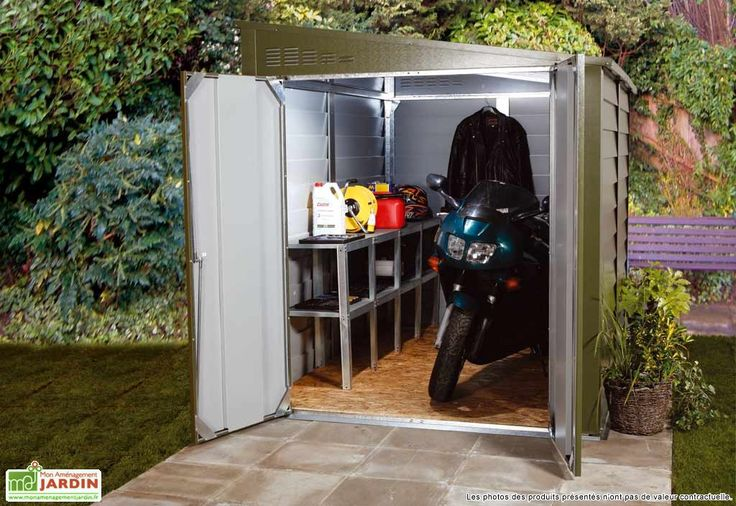 Garage Motos Titan 960 Vert (280x198x219)