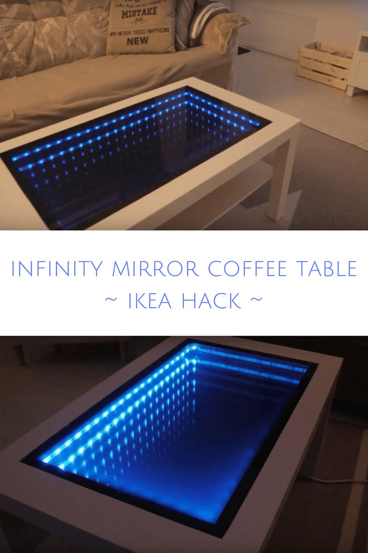 how to make an infinity mirror table