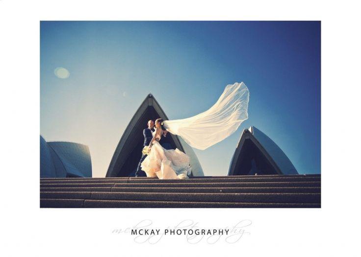 Flying veil at the Sydney Opera House