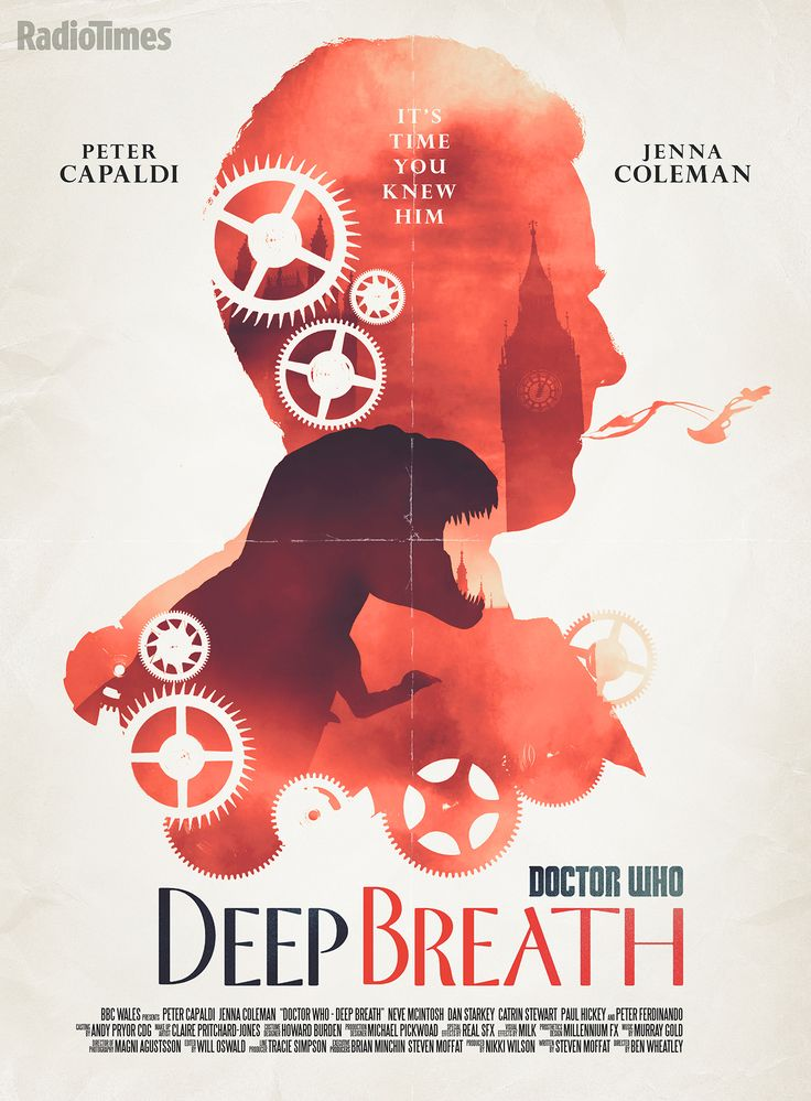 The poster created by Stuart manning for the features length season premiere 'Deep Breath'