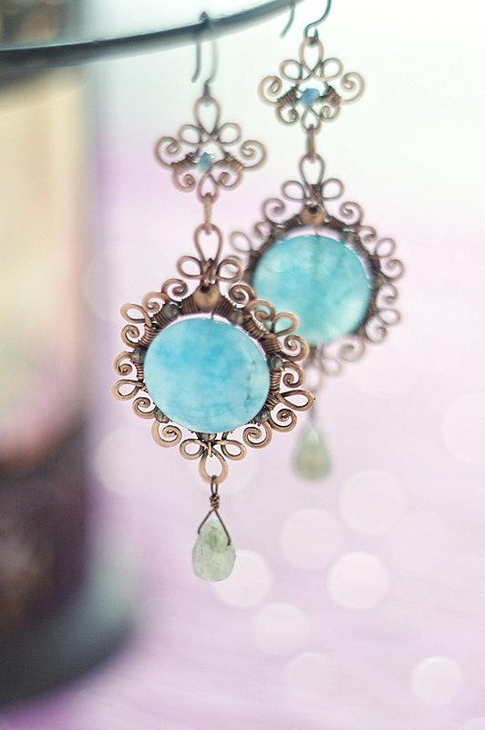 368 best Earrings wire wrap 2 images on Pinterest | Wire jewelry ...