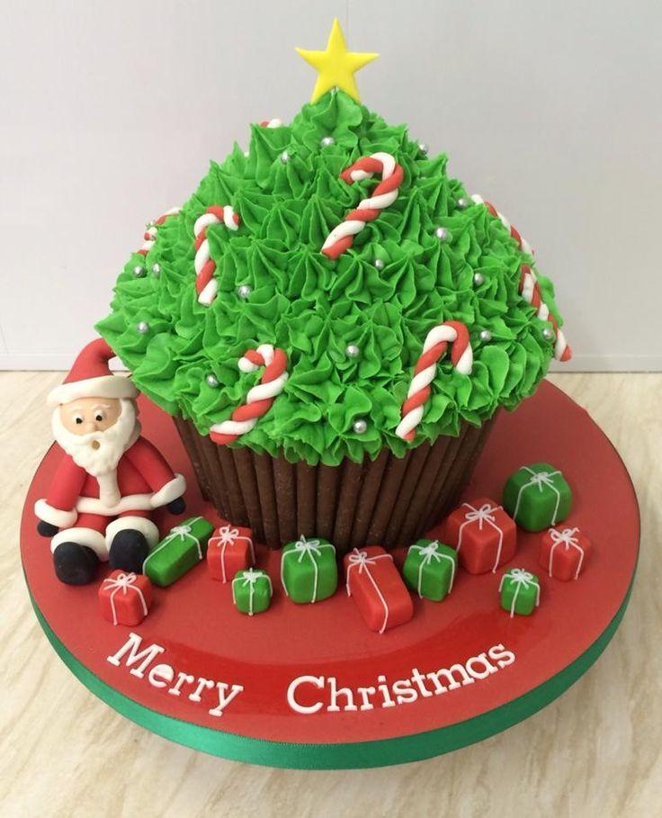 Christmas giant cupcake More