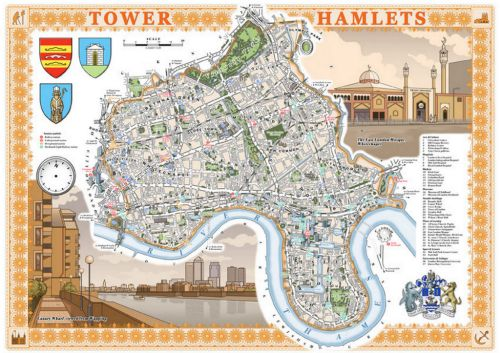 MapCarte 369/365: Illustrated London by Mike Hall, 2011-present