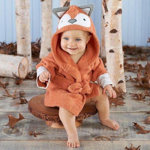 "Baby Aspen ""Rub-A-Dub, Fox in the Tub"" Hooded Spa Robe - Aspen Brands - Babies ""R"" Us"