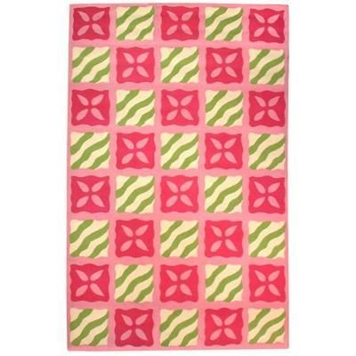 Fortune Cookie Pink Hooked Rug From Susan Sargent