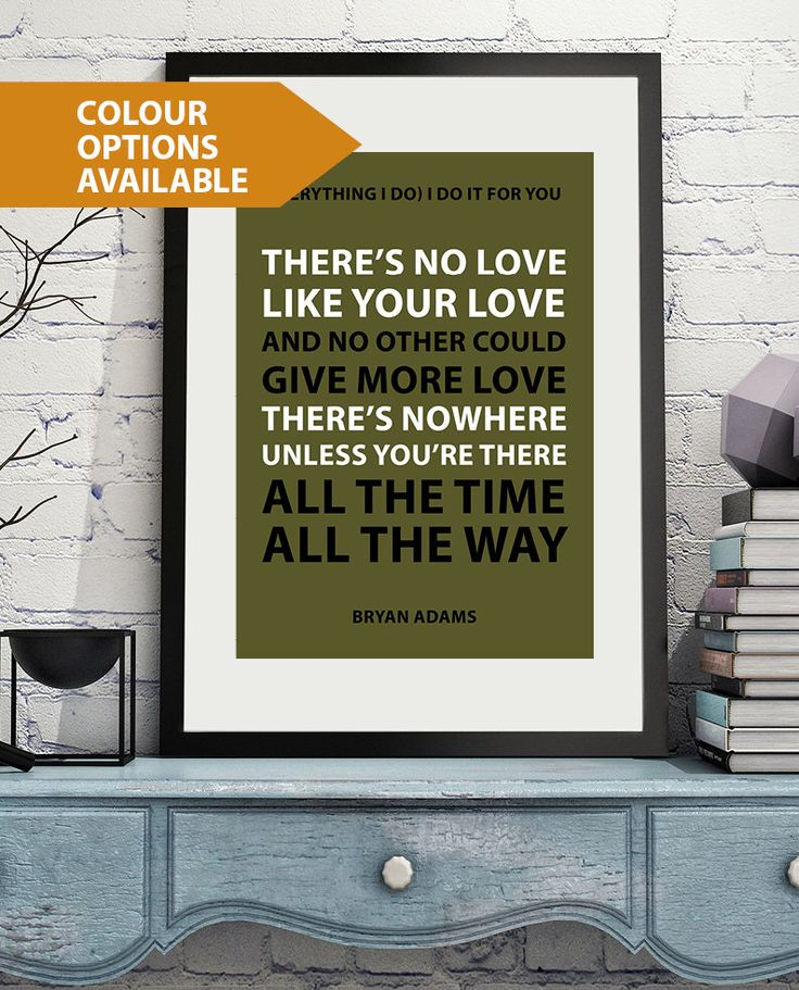 20 best Etsy Song Lyric Art Posters images on Pinterest | Art ...