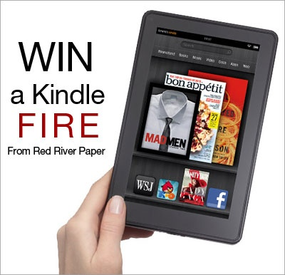 Have you heard that our friends at Red River Paper are giving away a KINDLE FIRE to Graphic Authority fans??     Go to their website to enter!!