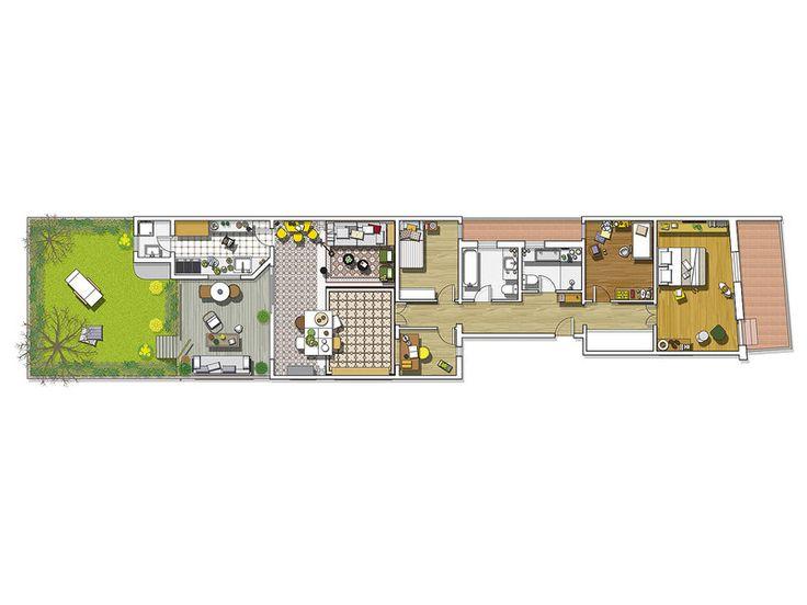 O casă modernă cu grădină interioară Jurnal de design interior