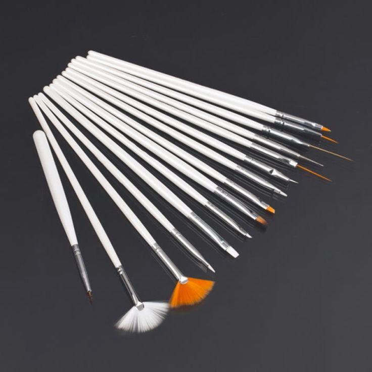 15 teile/satz Nail art Dekorationen Pinsel Werkzeuge Berufsnagelkunst pinsel Malerei Stift für Falsche Nagelspitzen Uvnagelgel polnisch