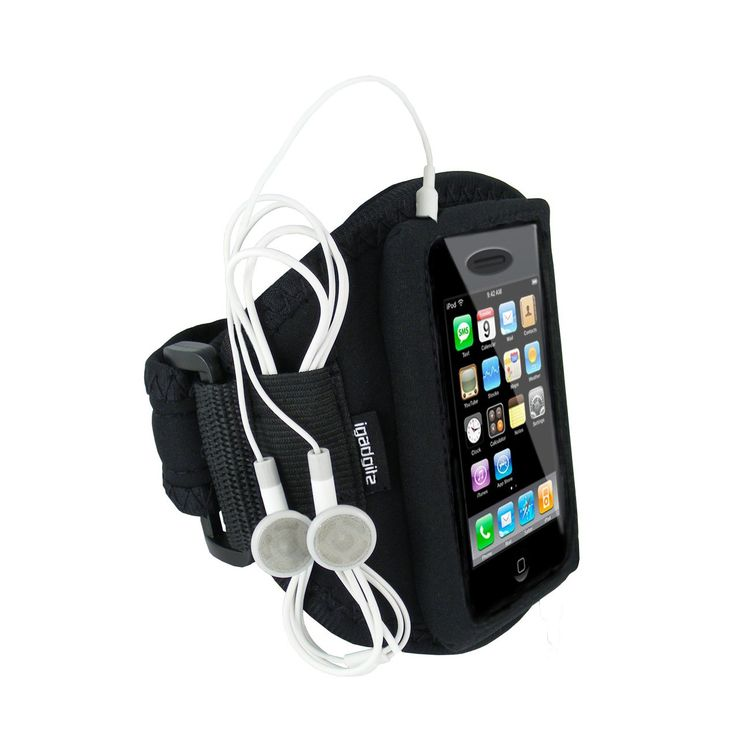 """igadgitz Black Water Resistant Neoprene Sports Armband for Apple iPhone 3G & New 3GS 8GB, 16GB & 32GB. Custom made for Apple iPhone 3G and iPhone 3GS. One size fits all, Secure Velcro adjustable fastner, Minimum arm circ 26cm; Max 44cm (Min: 10.4"""" Max: 17.3""""). Produced from superior quality neoprene. Perfect for jogging, cycling, gym, beach etc. Water resistant, Fully adjustable for comfort, Storage for excess earphone cable. Earphones shown for display purposes only."""