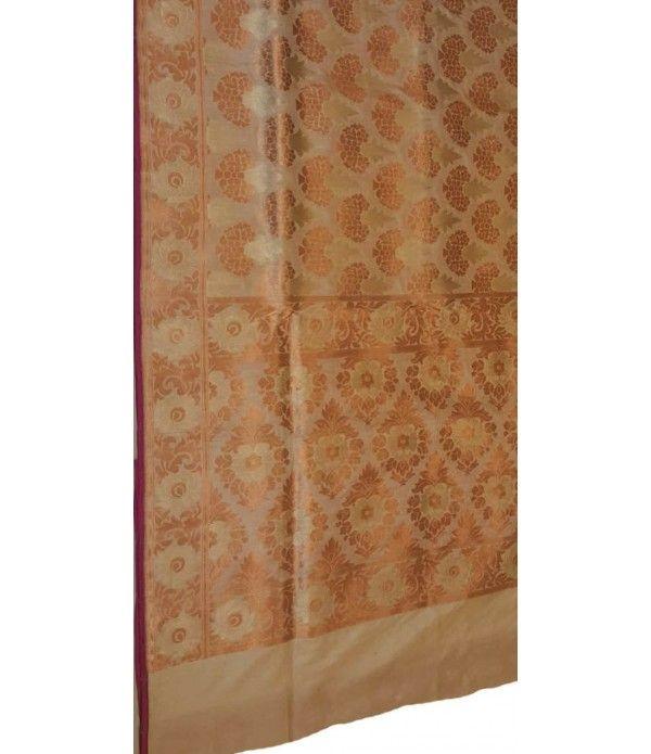 Green Gold handloom Banarasi Pure Silk Saree
